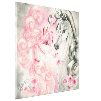 Unicorn Kiss Canvas Print