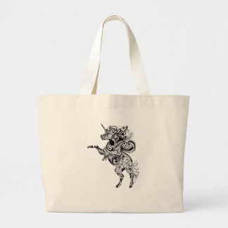 unicorn large tote bag