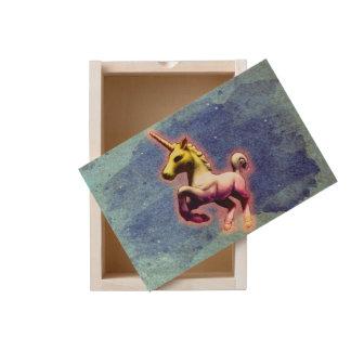 Unicorn Large Wood Keepsake Box (Galaxy Shimmer)
