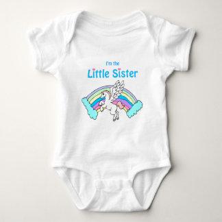 unicorn little sister baby bodysuit