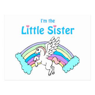 unicorn little sister postcard