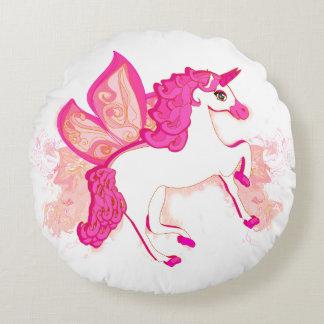 unicorn logo Round Cushions Round Pillow