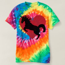 Unicorn love and tie dye coolness. t-shirt