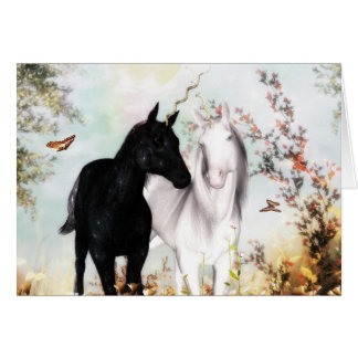 Unicorn love card