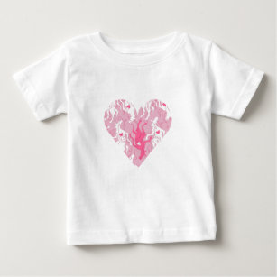 Unicorn Valentines Day Baby T Shirts Zazzle