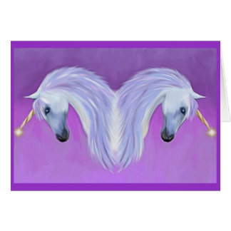 Unicorn love greeting cards