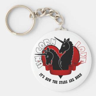 Unicorn love keychain