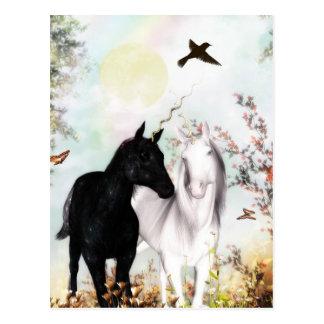 Unicorn love postcard