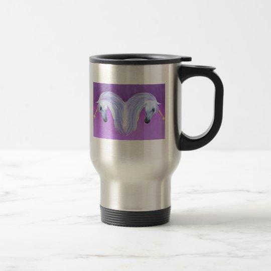 Unicorn love travel mug