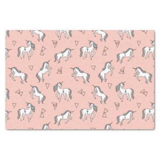 Unicorn Love - White On Pale Pink / Andrea Lauren Tissue Paper