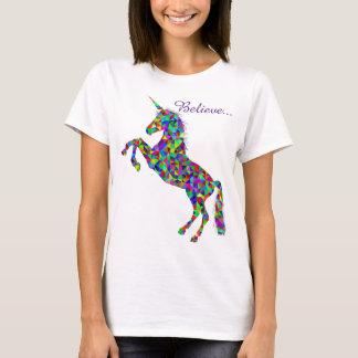 Unicorn Magic Believe Colorful Women's T-Shirt