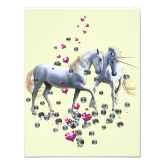 Unicorn Magic 4.25x5.5 Paper Invitation Card