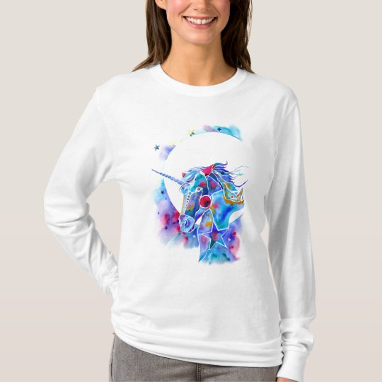 Unicorn Magic Ladies Long Sleeved Shirt