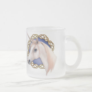 Unicorn Magic 10 Oz Frosted Glass Coffee Mug