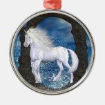 Unicorn Magic Ornament Silver-Colored Round Ornament