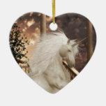 Unicorn Magic Ornament Ceramic Heart Ornament