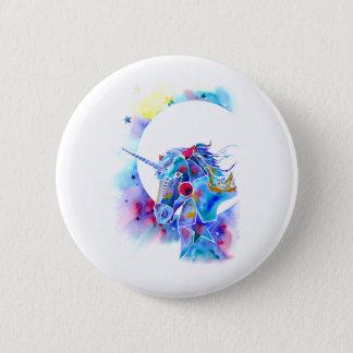 Unicorn Magic Round Pin