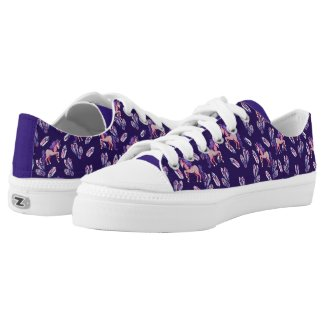 Unicorn Magick Magickal Crystals Witchy Unicorns Low-Top Sneakers