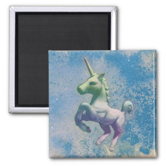 Unicorn Magnet - Round or Square (Blue Arctic)