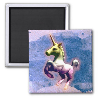 Unicorn Magnet - Round or Square (Burnt Blue)