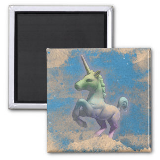 Unicorn Magnet - Round or Square (Sandy Blue)