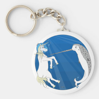 Unicorn Meets Narwhal Keychain