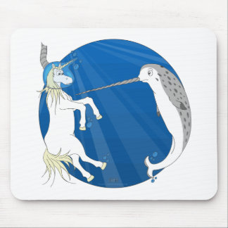 Unicorn Meets Narwhal Mouse Pad