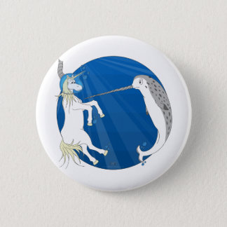 Unicorn Meets Narwhal Pinback Button