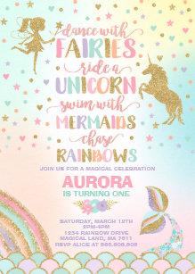 Fairytale Birthday Invitations Zazzle