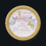 "Unicorn Mermaid Fairy Birthday Party Paper Plates<br><div class=""desc"">Unicorn Mermaid Fairy Birthday Party Paper Plates</div>"