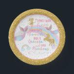 "Unicorn Mermaid Fairy Birthday Party Paper Plates<br><div class=""desc"">Unicorn Mermaid Fairy Birthday Party Paper Plates</div>"