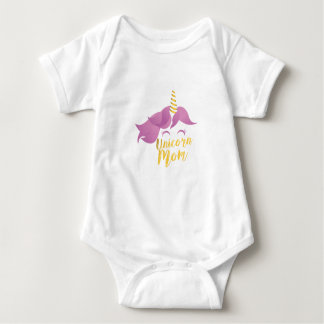 Unicorn Mom Mothers Day Gifts Baby Shower Party Baby Bodysuit