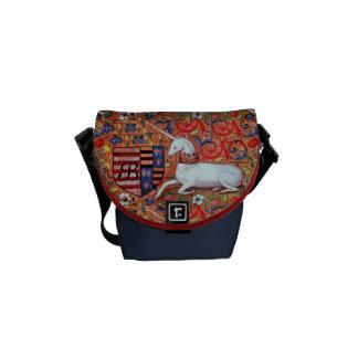 UNICORN MONOGRAM MESSENGER BAG