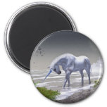 Unicorn Moon 2 Inch Round Magnet