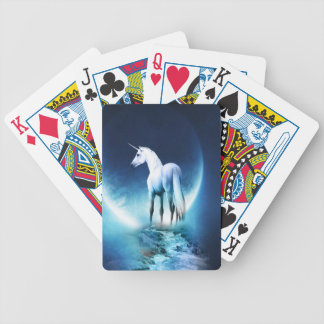Unicorn Moon Bicycle Playing Cards