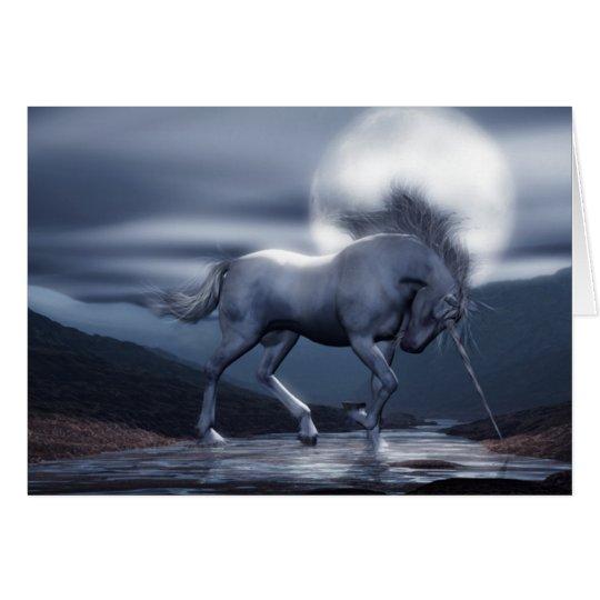 Unicorn Moon Birthday Card