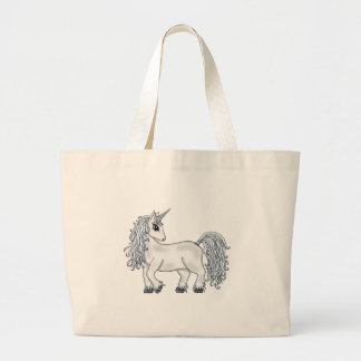 Unicorn Moon Large Tote Bag