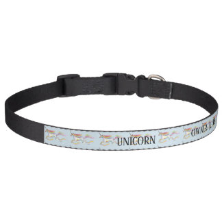 Unicorn Name Collar Custom Rainbow Personalizeable