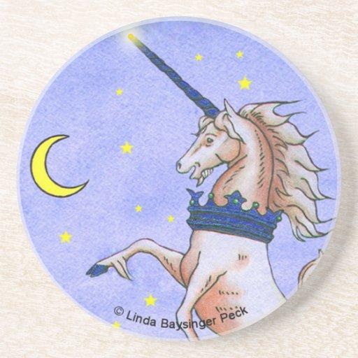 Unicorn Night Beverage Coaster