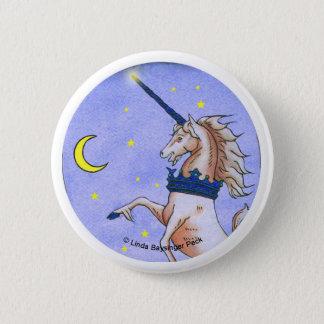 Unicorn Night Illustration Button