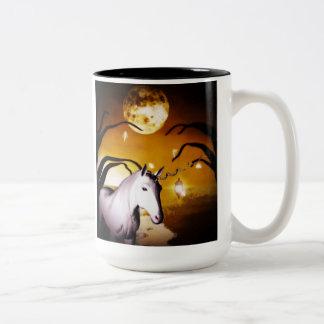 Unicorn night magic Two-Tone coffee mug