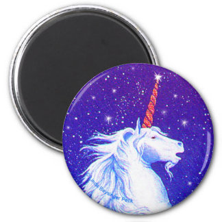 Unicorn Night Sky 2 Inch Round Magnet
