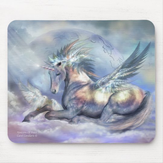 Unicorn Of Peace Art Mousepad