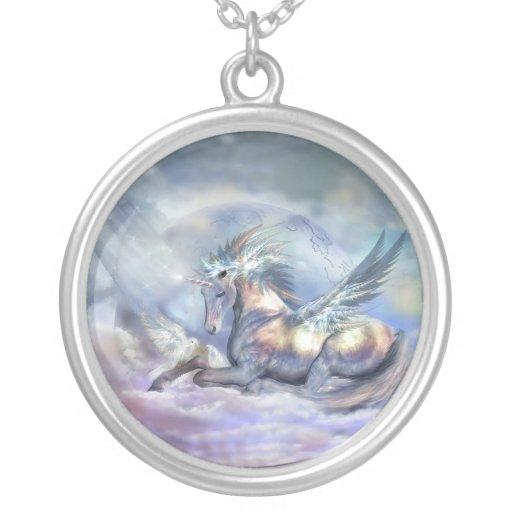 Unicorn Of Peace Wearable Art Necklace