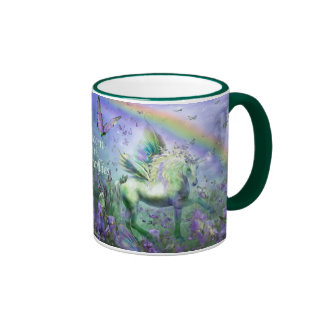 Unicorn Of The Butterflies Art Mug