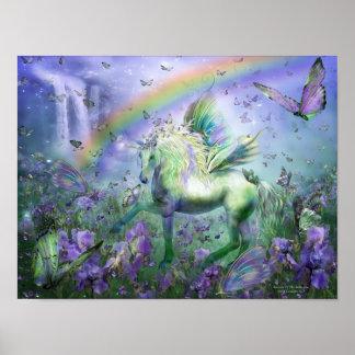 Unicorn Of The Butterflies Art Mural/Print Poster