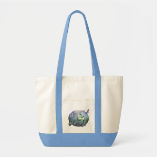 Unicorn Of The Butterflies Art Tote Canvas Bag