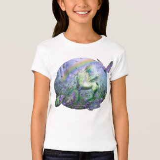 Unicorn Of The Butterflies Girls Baby Doll T-Shirt