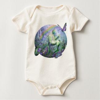 Unicorn Of The Butterflies Infant Organic Creeper