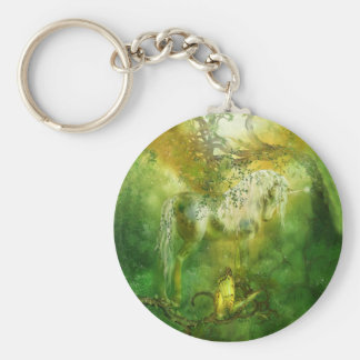 Unicorn Of The Forest Art Keychain